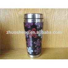 venta por mayor creativo en taza de cerámica personalizada esmalte acero inoxidable china grado superior