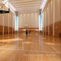 Antidérapant 22mm Indoor Sport Basketball Court Maple plancher en bois solide