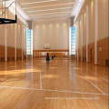 Antislip 22mm Indoor Sport Basketball Court Maple Wood Flooring Solid