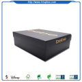 Black shoes packaging boxes with lid