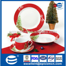 hot selling Christmas tree decoration porcelainware Christmas printing