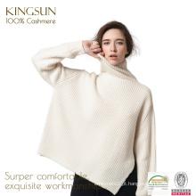 KS-F057 Camisola das mulheres puras de cashmere, Camisolas de cashmere para mulheres