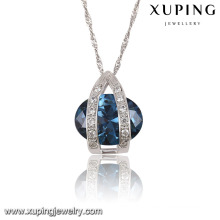 32586 Fashion Elegant Rhodium Oval CZ Diamond Imitation Women Jewelry Chain Pendant