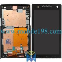 Pantalla LCD y táctil con carcasa frontal para Sony Xperia S Lt26I