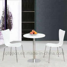 Restaurant Furniture Set with Round Table and PP Chair (SP-CT618)