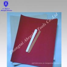 Lima de uñas de madera y papel de arena roja