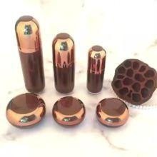 Acrylic brown pump sleeve electroplating acrylic lotion bottle