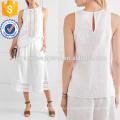 Белое постельное белье и крючком хлопок Производство Оптовая продажа женской одежды (TA4143B)