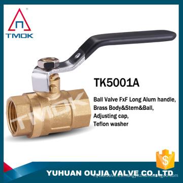 TMOK Válvula de bola de gas PN40 Válvula de bola de latón forjado CW617n de puerto completo para válvula de bola de latón de gas natural con filtro