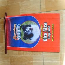 Bolso tejido de la alimentación animal de la película de BOPP 25kg / bolsos tejidos de la alimentación del polipropileno / bolso de empaquetado de la alimentación animal