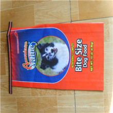 Sac tissé par alimentation animale de film de BOPP 25kg / sacs d'alimentation tissés de polypropylène / sac d'emballage alimentaire des animaux