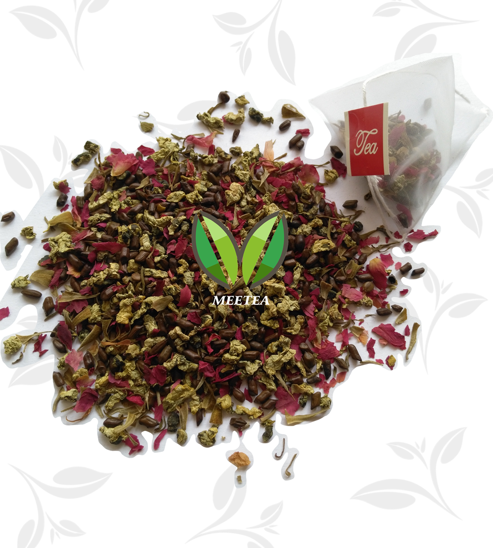 Rose Beauty Slimming Green Tea Non Woven Fabric Filter Teabag