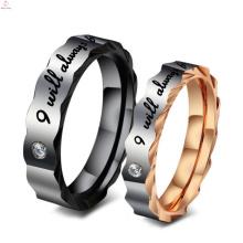 Anillo de titanio con cúpula de acero inoxidable, anillo de bodas de pareja de titanio