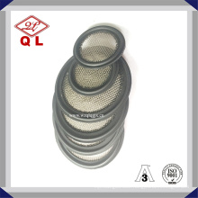 """4"""" Food Grade Sanitary Tri Clamp Viton Gaskets with Screen Ss304 Mesh 200"""