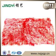 En gros Handmake Long cheveux mongole en peau de mouton plaque de fourrure