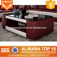 SUMENG dubai l shape glass coffee table