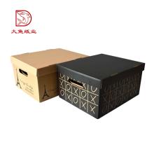 Factory direct square custom large corrugated home storage box