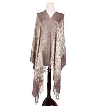 Casaco de prata para senhoras com viscose Pashmina Winter Shawl