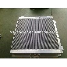 plate-fin excavator heat exchanger/excavator hydraulic oil cooler