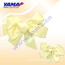 yellow satin bows