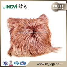 couverture de coussin en peau de mouton de confort longs cheveux