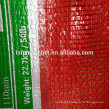 PP mesh bag with circular and plain yarns for onions
