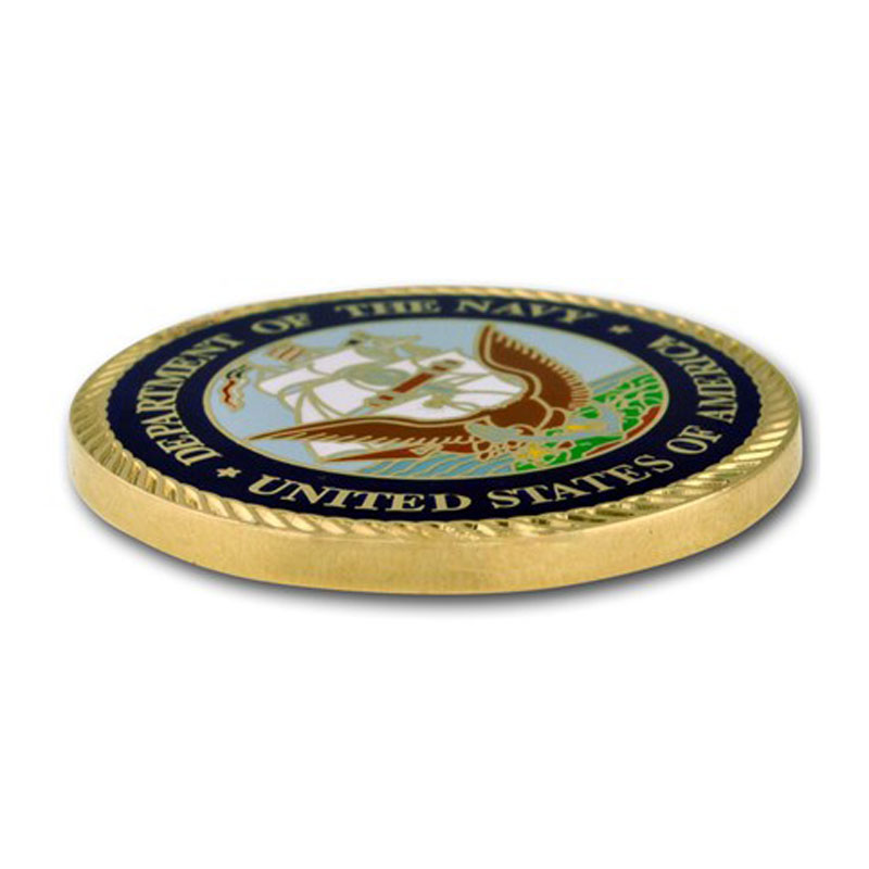 U.S. Navy Veteran Coin Commemorative Challenge Badge