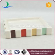 YSb40073-01-sd Neues Produkt benutzerdefinierte Bad Waren, Großhandel Keramik Seifenschale