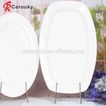 Microwaveable hochwertigen preiswerten Preis weißen Teller Porzellan Obstteller