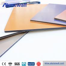 Panel compuesto de aluminio de alta calidad de recubrimiento de 4 mm PVDF para caravana