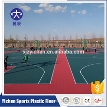 Revêtement de sol sport extérieur sport durable interlocking pp