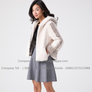 겨울 레이디 짧은 Merino Shearling Jacket