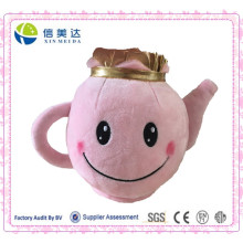 Unique Design Plush Pink Teapot Stuffed Educational Children Toy