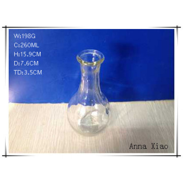 Small Size Clear Glass Vase with Round Belly