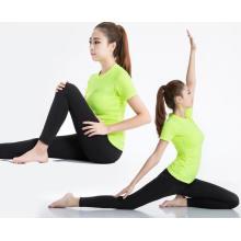 Женщины Фитнес Одежда Йога Бег Прогулки Спорт T-Рубашки