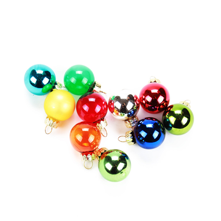 mini christmas glass ball