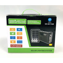 GD-8017AM FM AM SW  Rechargeable Radio Blue tooth Speaker With USB SD TF Mp3 Player With Solar With Light