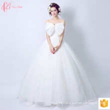 2017 vestido de novia de encaje dulce vestido de novia Bowknot China por encargo