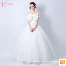 2017 Sweet Lace Wedding Dress Bridal Gown Bowknot China Custom Made