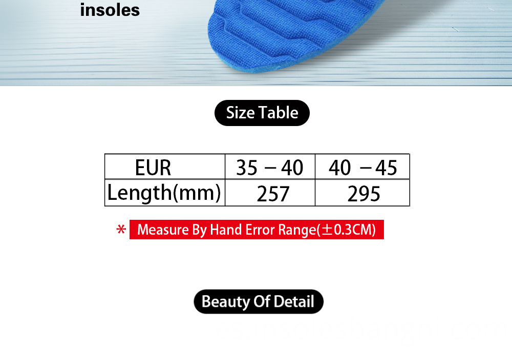 Memory insoles