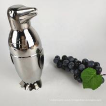 logo custom printed penguin shape stainless steel cocktail shakers set