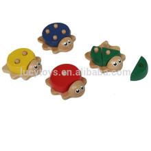 2016 Hot Selling tartaruga forma brinquedo de madeira de matemática para crianças