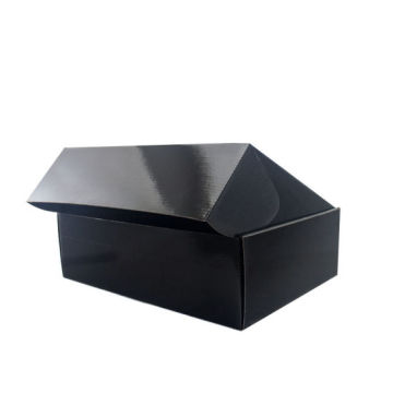 Custom Panton Printing Black Corrugated Packaging Box