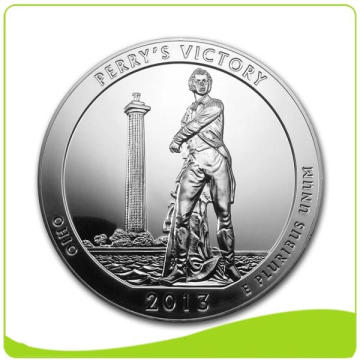Silver Plated Custom Commemorative Coin