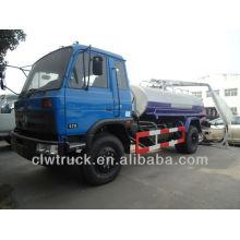 Dongfeng 145 camión de succión fecal, 6m3 venta de camión de succión de drenaje en Perú