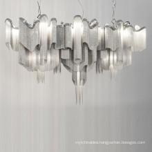 Modern Contemporary Chandelier 12 Lights Aluminum Chain Kitchen Island Pendant Ceiling Lighting Fixture