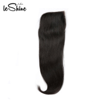 100 Percent Human Hair  Straight Brazilian Closure