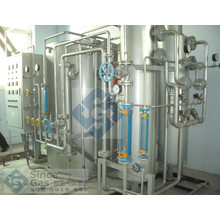 Ammonia cracker and purification plant