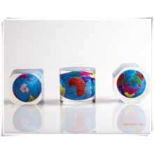 Promotional Gifts-Clear Cube Acrylic Embeded Globe/Resin Embeded Globe-DC16001