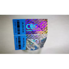 Custom rainbow security anti-faking laser 3D hologram label sticker